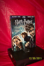 Harry Potter and the Deathly Hallows: Part I (Blu-ray Disc, 2011, 3-Disc Set,...