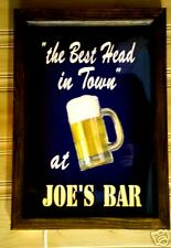 Large lighted personalized Best Head In Town bar sign