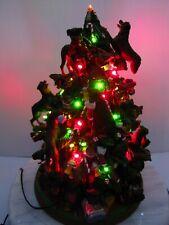 Danbury Mint Rottweiler Dog Christmas Tree Lighted Many Broken & Missing Pieces