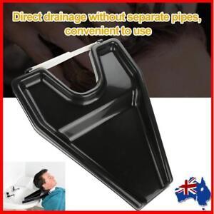 Hair Washing Rinse Tray Basin Shampoo Bowl Plastic Portable Tub Sink Wash Black