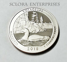 2018 S VOYAGEURS  *CLAD PROOF*  ATB QUARTER   **FREE SHIPPING**