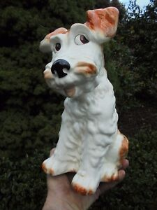 VINTAGE SYLVAC TERRIER DOG MODEL 1380 THE LARGEST