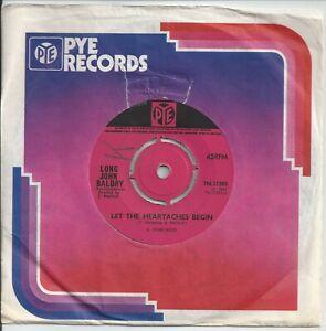"Long John Baldry - Let The Heartaches Begin 7"" Vinyl Single 1967"