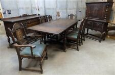 Dining Room Set, Dining Table 6 Chairs, Buffet, China Hutch, Vintage Furniture,