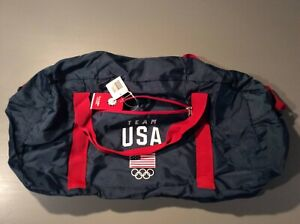 Team USA Foldable Pouch Duffel Bag Official Vintage Flag Olympics Navy Rip Stop