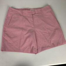 Lady Hagen Golf Shorts Womens Sz 12 Pink Crush Seersucker Stripe 34W NWT $50