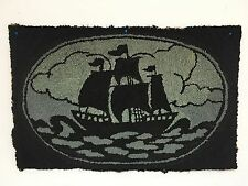Antique Wool Victorian Hand Hooked Rug PRIMATIVE FOLK Ship
