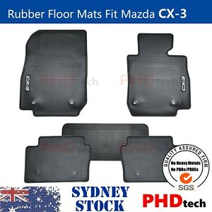 Premium Quality All Weather Rubber Floor Mats to fit Mazda CX-3 2015-2021
