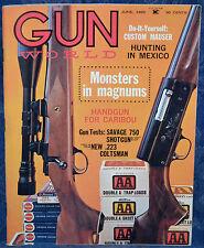 Magazine GUN WORLD June 1965 !SAVAGE 750AC SHOTGUN! *COLT Coltsman .223 RIFLE*
