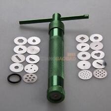 19 Discs Sculpture Craft Gun Clay Fimo Extruder Cake Sugarcraft Decorating Tools