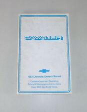 Owner's Mode D 'em Ploi / Mode D 'em Ploi Chevrolet Cavalier de 1983