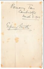 More details for gipsy smith - salvation army evangelist - 1904 signature & photocard