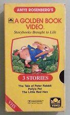 amye rosenberg's TALE OF PETER RABBIT / POLLYS PET LITTLE RED HEN VHS VIDEOTAPE