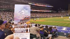 Colorado Rockies vs New York Mets 8/1/17 Amed Rosario's 1st MLB game stub.  MINT