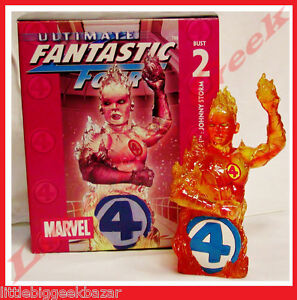 Buste HUMAN TORCH 4 Ultimate Fantastiques fantastic bust Diamond Select # NEUF #