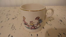 Vintage China CHILDREN'S MUG Boy & Girl & Doll on a TEETER-TOTTER