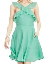 Banana Republic Womens Size 14 Mint-Green Ruffle Halter Cocktail-Party Dress
