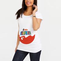 Maternity T-shirt Pregnancy Tee Top T shirt Kinder Surprise