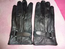 Real leather men gloves size L new no tags