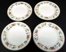 """Wedgwood Provence Queen's Ware Lot of 4 Bread and Butter Plates 6"""" England 1990"""