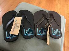 2 Pairs KIDS Girls FLIP FLOPS SANDAL ARCH SUPPORT SIZE 13/1 Brown and Black