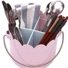 P467 Kitchen Utensil Caddy Cooking Tool Holder Flatware Silverware Organizer New