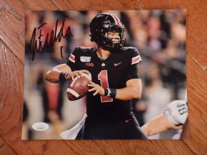 Justin Fields Autographed Signed Ohio State Buckeyes Photo 8x10 JSA