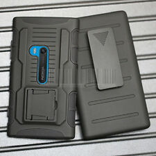 For Nokia Lumia 920 Hybrid Rugged Armor Impact Case Hard Cover Holster Stand