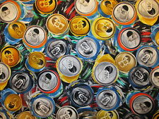 BEER CANS TOPS POP CANS DRINKS COTTON FABRIC BTHY