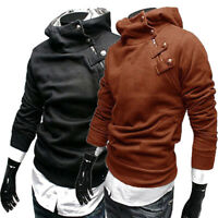 Men Warm Winter Outwear Sweater Thicken Hoodie Slim Hooded Sweatshirt Jacket