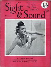 SS51-19-10 SIGHT AND SOUND 1951 Esther Williams ROBERTO ROSSELLINI UK MAGAZINE