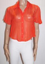 grace & favour Brand Grenadine Silk Love This Shirt Top Size 8-XS BNWT #TA41