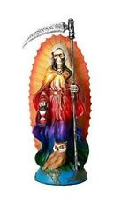 Santa Muerte Saint of Holy Death Standing Religious Statue 7.25 Inch Rainbow Tun