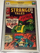 STAN LEE Signed Strange Tales #135 1st Nick Fury Agent Of SHIELD 1965 CGC 3.5 SS