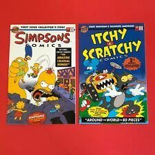 Vintage Lot of 2 First Issue Bongo Simpsons Itchy & Scratchy Comics 1993