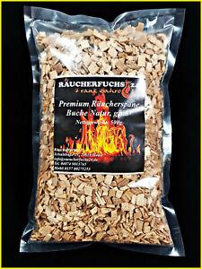 Räucherspäne Buche, grob 500g (Räucherchips, Smoker, Pökeln, Räuchern, BBQ)
