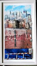 GOTTFRIED SALZMANN >New York HAND-SIGNIERT Aufl.25, 60x40, 3D-RAHMEN