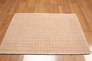 Accent Rug 2x3 Bamboo Silk & Wool Multi-use Rose Handmade Area Rug Foyer Den