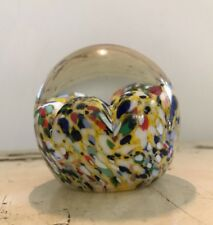 Vintage Gentile Art Glass Paperweight Scrambled - Star City WV - Rare