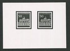 BUND ANKÜNDIGUNGSFOTO 509 + BERLIN 289 BRANDENBURGER TOR 1966 PHOTO-ESSAY e409