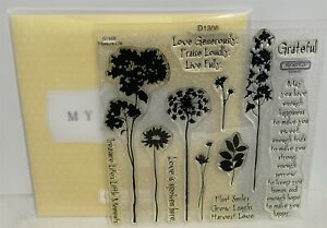 CTMH TREASURE LIFE  Wildflowers Flowers Stems Acrylic Rubber Stamps Set
