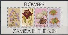 Zambia zambia 1983 ** bl.12 flores Flowers flora [st1583]