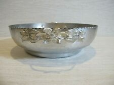 1950's Trade Continental Mark Covered Bowl Hand Wrought Aluminum Silverlook 557