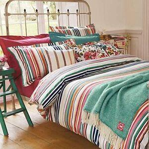Joules Duvet Cover 100% Cotton Deckchair Stripe Single Bed Size