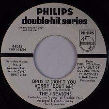 THE 4 SEASONS: Big Girls Don't Cry USA PHILIPS DJ Promo Soul VG++