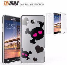 Samsung Galaxy ON5 Slim 360 Full Body Protection Flexible Case CUTIE SKULL