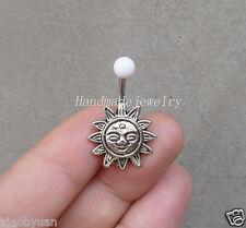 2ps Hangmade Sun Belly Button Ring  navel piercing  body jewelry