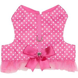 NEW Pink Dot Tutu Glam Cat Pink Kitty Kitten Hoodie Shirt Dress Harness 5-10 lbs
