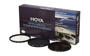 Genuine HOYA Digital Filter Kit II 43mm, 1x UV 1x ND8 1x CPL
