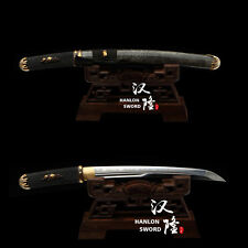 Top Quality Japanese Sword Clay Tempered Blade Genuine Ray skin Saya Tanto Sharp
